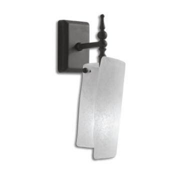 Applique (1x60 watt) a parete, finitura metallo anticato. per PASR38, PA038, PASL59