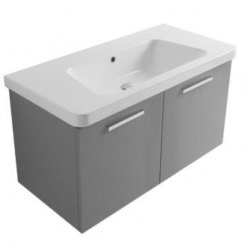 Base 100 con due ante completa di lavabo GR100.BI