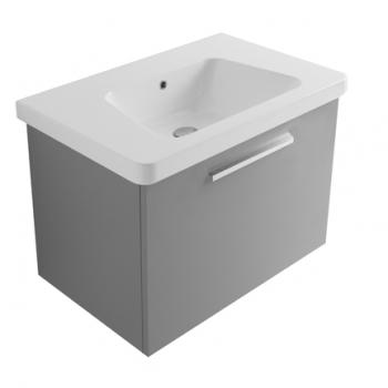 Base 75 con cassetto completa di lavabo GR075.BI