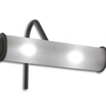 Lampada (2x40 watt) per specchio, finitura metallo anticato. Consigliata per art. PASL59 - PASR38 - PA038