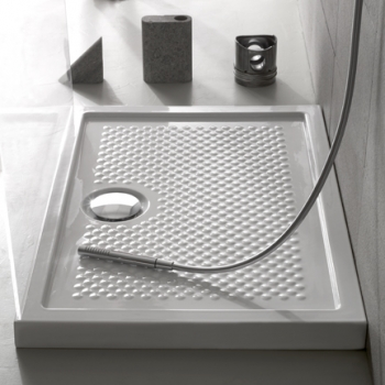 Piatto doccia 80x100 in ceramica. Installazione da appoggio o filo pavimento. Bianco lucido. Bianco opaco. Nero opaco. Portata di scarico 30 l-m
