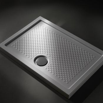 Piatto doccia 80x120 in ceramica. Installazione da appoggio o filo pavimento. Bianco lucido. Bianco opaco. Nero opaco. Portata di scarico 30 l-m