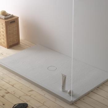 Piatto doccia 80x140. Installazione da appoggio o filo pavimento. Piletta inclusa. Portata di scarico 30 l-m