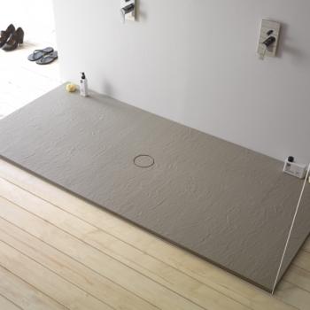 Piatto doccia 80x180. Installazione da appoggio o filo pavimento. Piletta inclusa. Portata di scarico 30 l-m