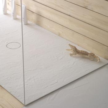 Piatto doccia 80x190. Installazione da appoggio o filo pavimento. Piletta inclusa. Portata di scarico 30 l-m