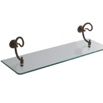Portamensola con mensola in vetro