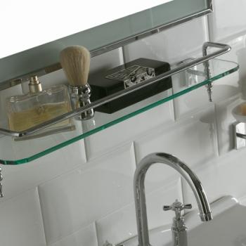 Portamensola con mensola vetro