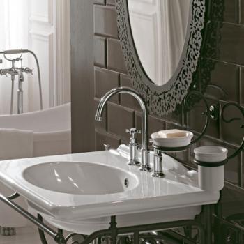 Portasapone lavabo - bidet da parete con piatto in ceramica.