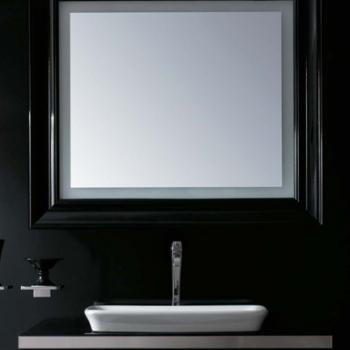 Specchiera cm 100 bianco lucido retroilluminata