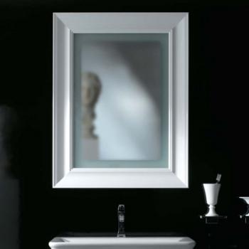 Specchiera cm 70 bianco lucido retroilluminata