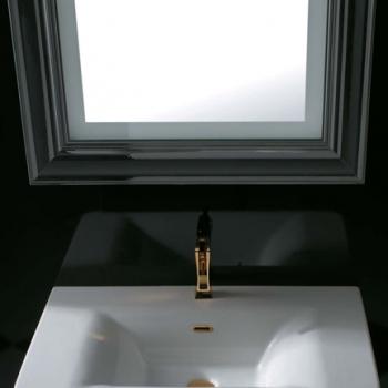 Specchiera cm 80 bianco lucido retroilluminata