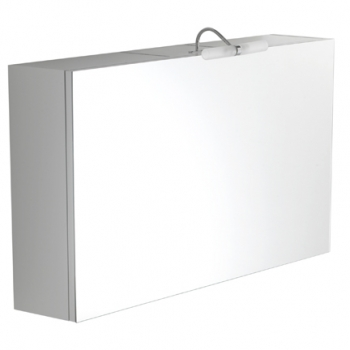 Specchio contenitore apertura a ribalta completo di lampada