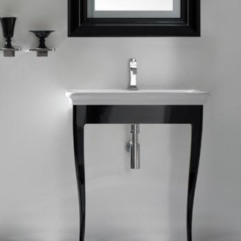 Struttura 70 a terra nero lucido completa di lavabo