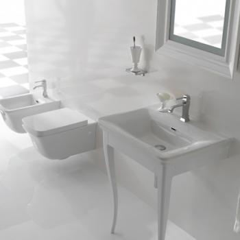 Struttura 80 a terra bianco lucido completa di lavabo